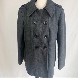 Michael Kors Grey Wool Double-breasted Peacoat